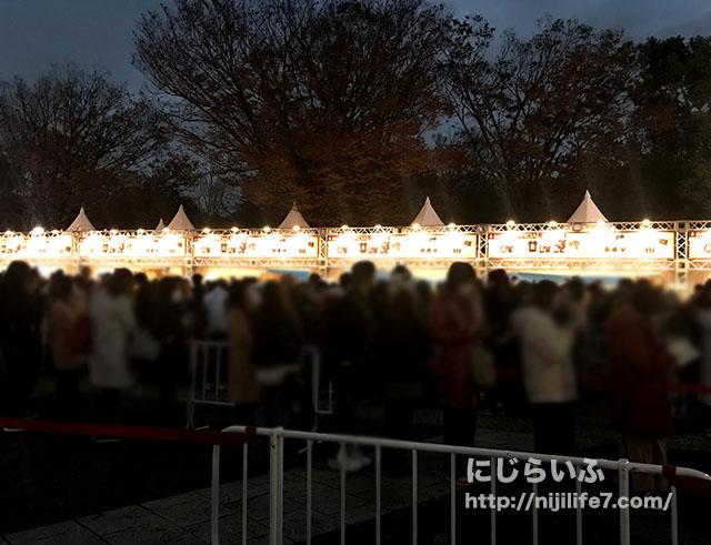 ラルクリスマスパークの時間帯